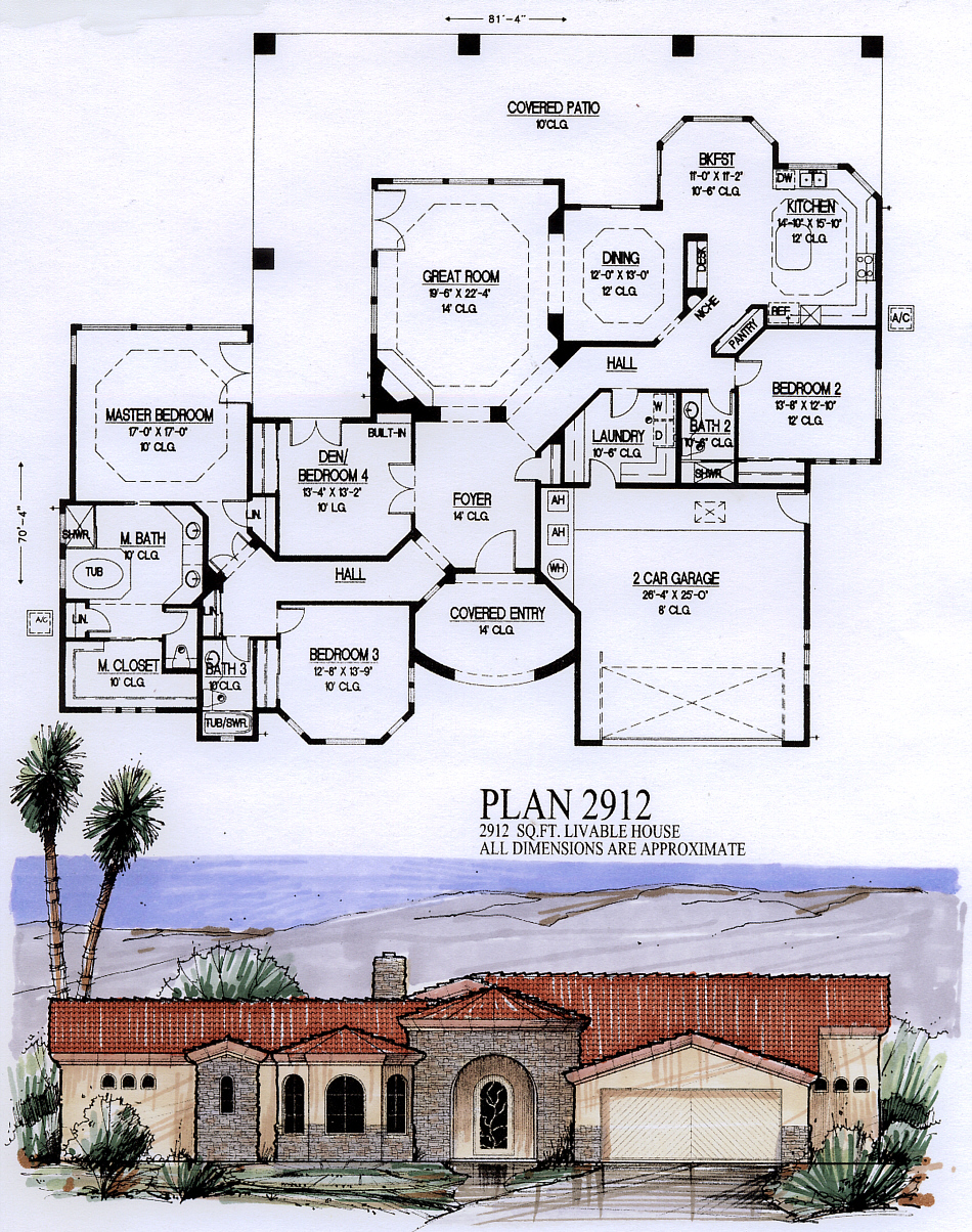 view floor plan - House Plans 3000 To 3500 Square Feet