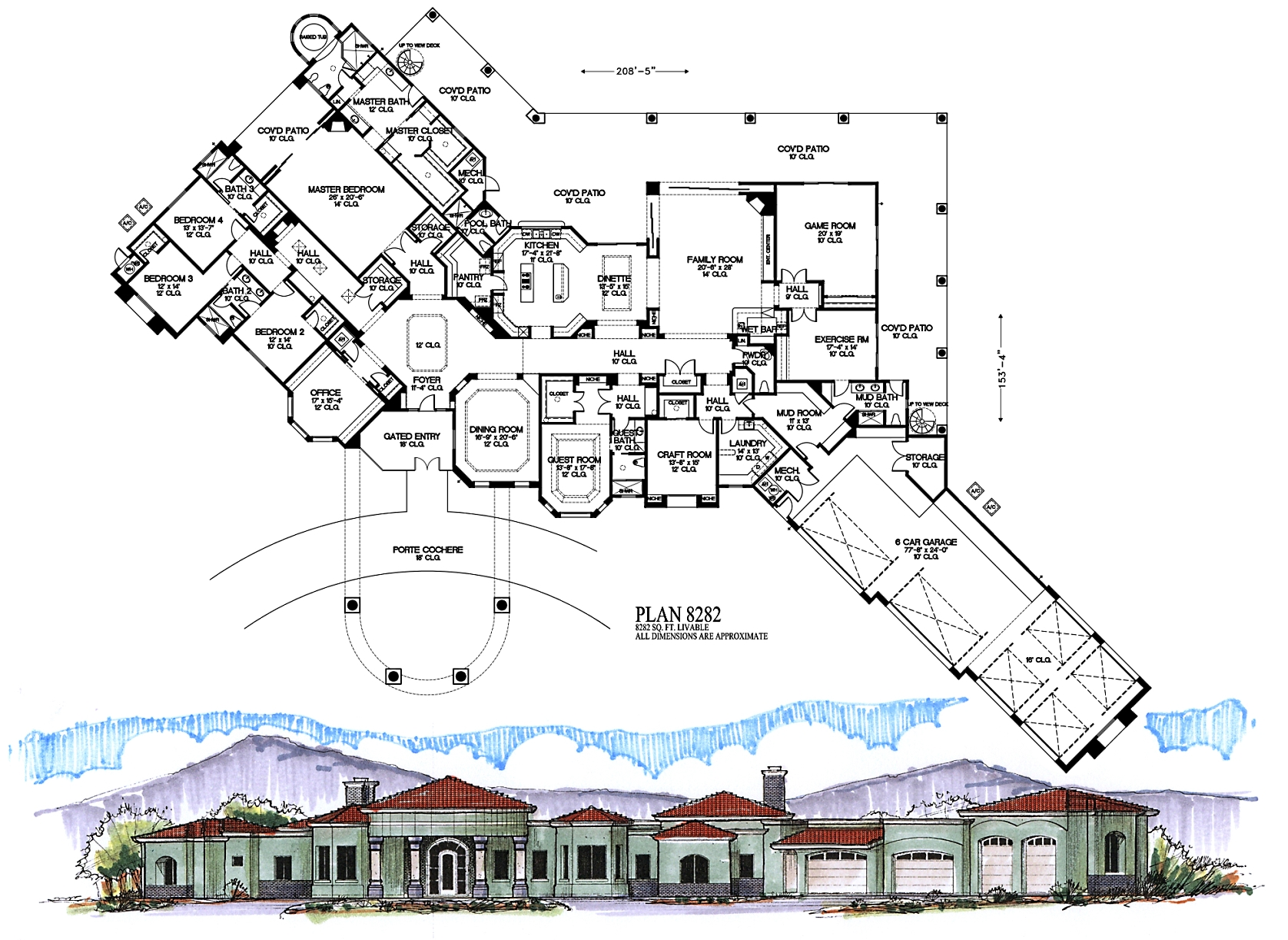 6000 square feet and higher for 6000 square foot house plans